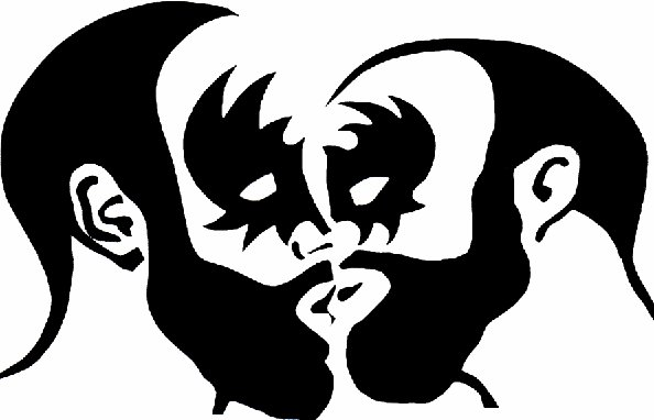 Masked bear kiss Homo Riot Sticker Art